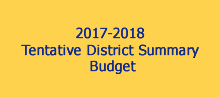 Tentative District Budget Summary